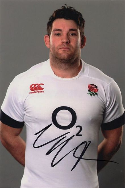 Nathan Catt, Bath Rugby & England, signed 6x4 inch photo.